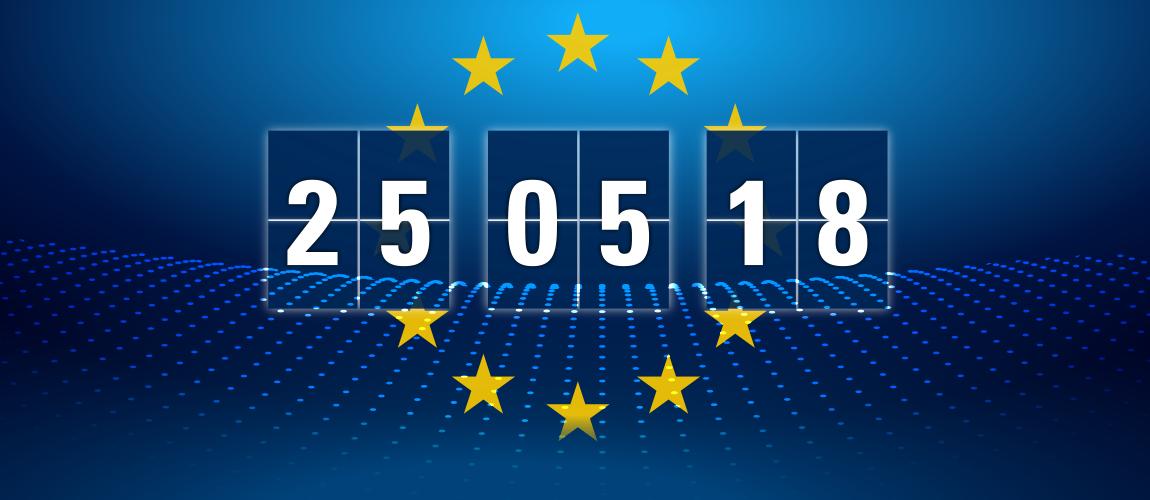 Infografik Europa und Datum 25. Mai 2018