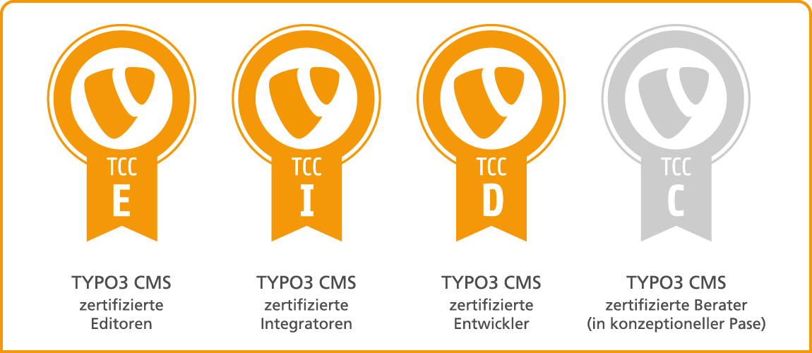 Grafik TYPO3 Zertifizierungen
